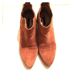 Pre-owned Mango Suede Booties